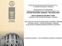 "Emisny den 10€ Ag ""Univerzita Komenského v Bratislave - 100. výročie vzniku"""
