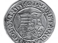 Reverz: Štvrtený uhorský štít, v strede sa nachádza malý rakúsky štít; MONETA (rozeta) NOVA (rozeta) ANNO (rozeta) DOMINI (rozeta) 1601(rozeta).