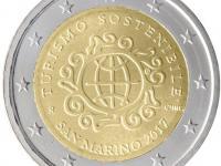 San Marino 2 euro 2017 Rok trvalo udrzatelneho turizmu