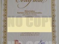 Certifikát č.2 bez držiteľa