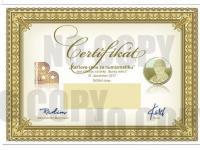 Certifikát č.1 bez držiteľa