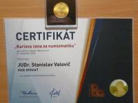 """""""Karlova cena za numizmatiku"""" za rok 2018"""