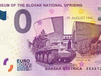 0 euro souvenir bankovka SNP