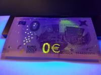 UV ochranné prvky 0 euro souvenir bankovky SNP