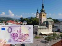 bystrický Barbakan na 0 euro souvenir bankovke