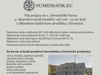 Pozor. Nová burza!  Prvá zberateľská burza v Kremnici