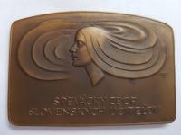 Marián Polonský: Spevácky zbor slovenských učiteľov, 50 rokov, 1971, bronz, 1971, AE, 81x55 mm, averz