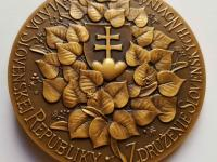 M. Polonský: Cena Ľudovíta Štúra / Vláda Slovenskej Republiky, Združenie slovenských novinárov, tombak, 80 mm, 1996, reverz