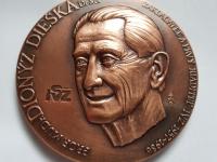 Marián Polonský: Dionýz Dieška/Inštitút pre ďalšie vzdelávanie pracovníkov v zdravotníctve, 1996, 100 mm, materiál Cu, averz