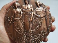 Marián Polonský: Dionýz Dieška/Inštitút pre ďalšie vzdelávanie pracovníkov v zdravotníctve, 1996, 100 mm, materiál Cu, reverz
