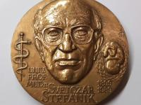 Marián Polonský: Prof. Svetozár Štefánik/XII. kongres SGPS v Bratislave 2005, tombak, 60 mm, averz
