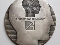 Polonský: Ústav aplikovanej kybernetiky, 1982, postriebrený tombak, 70 mm, averz