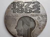 Polonský: Ústav aplikovanej kybernetiky, 1982, postriebrený tombak, 70 mm, reverz