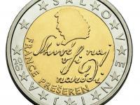 Vzácna minca : Slovinsko France Prešeren - razená v roku 2007