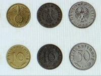 Druhy mincí Nemeckej Ríše 1933-1945