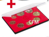 Plastový box na sadu euromoncí.