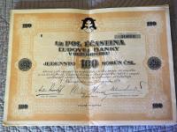 Ucastina Ludovej Banky v Ruzomberku 1926