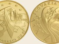Medaila Au - 10.výročie vstupu SR do EÚ