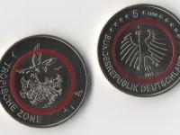 5€ Nemecko 2017 F- Tropické pásmo