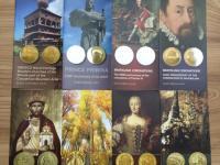 Komplet informačné letáky k zlatým zberteľským minciam v anglickom jazyku + darček
