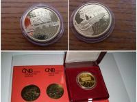 Zlatá minca 5000 Kč 2012 Barokní most v Náměšti nad Oslavou proof