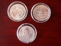 4 strieborné 5€ mince z ročníkových BU sád San Marino