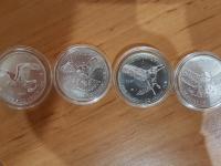 Kompletná séria 4x Birds of Prey 1 Oz Ag mincí
