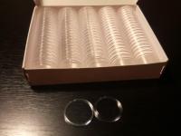 Použité kapsule (bublinky) na 2 euro mince