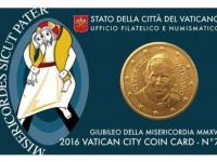 Vatikán mincová karta 50 centov 2016