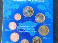 """Estónsko 2011 -vymením - predám sadu minci v kvalite UNC ,, darčekové balenie"""""""