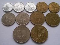 Československo 1921-1992 - ČSR, ČSSR, ČSFR - obehové mince - ročníky