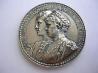 """Ag medaila Arcivojvoda Franz Salvator a Arcivojvodkyňa Marie Valerie - """"Svadba v Bad Ischl 31.07.1890"""""""