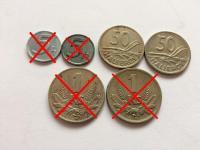 Slovenský štát mince - ročníky, varianty - s - vzácne R a RR mince - skoro komplet