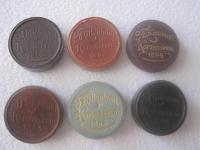 1 koruny 1896 KB- príchod maďarov  v etue - rôzne farby .