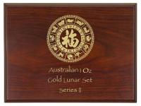 Akcia!!! Box na zlaté 1 OZ mince Lunar II