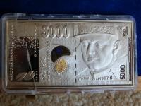 Slovenské bankovky v striebre