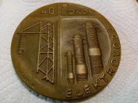 Ocenenie plakety 40 rokov elektrovodu