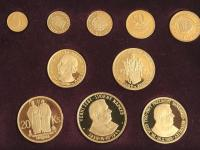 Zlaté repliky mincí Slovenskej republiky 1939-1945 limitovaná razba 30 ks, číslo razby 7