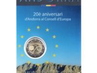 pamätné 2€ mince Andorra 2014, 2015 a 2016 v originálnych nepoškodených blistroch