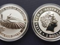 Australia Bird of Paradise 1oz 2018 investicne striebro