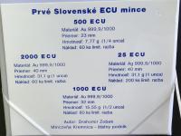 Prvé slovenské ECU mince, číslované, ročník 1998