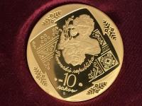 10. Výročie SR  5 dukát a toliar, LR 100ks - čislo 8. číslované.