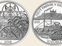 pamätná 2€ San Marino 2009 za 10€ parník na Dunaji v proof