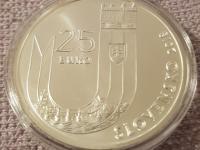 25. výročie vzniku SR - 25€/2018 BK v kombinácii s inou striebornou mincou v BK prevedení