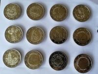2€ UNC pamätné Cyprus, Estónsko, Litva