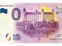 0€ suvenír bankovka Bratislava hrad