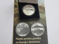 10 euro Plavba prvého parníka na Dunaji v Bratislave Proof pod emisnú cenu