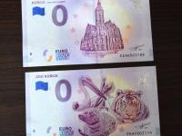 0€ bankovky ZOO Košice a Katedrála  za Rodošto a Botanickú záhradu