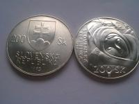 Československo ČSR ČSSR SR strieborné obehové a pamätné mince aj v razobnom lesku!
