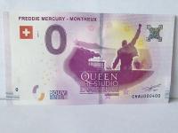 0 euro bankovka Freddie Mercury